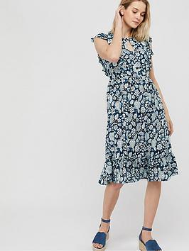 Monsoon Monsoon Loana Printed Midi Dress - Blue Picture