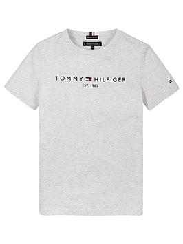 tommy-hilfiger-boysnbspessential-logo-short-sleevenbspt-shirt-grey