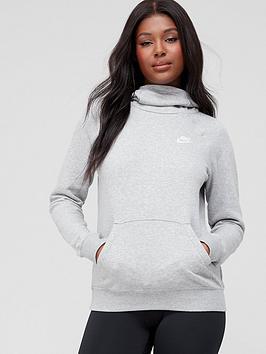 Nike Nike Nsw Essential Funnel Hoodie - Dark Grey Heather Picture