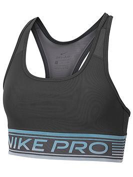 Nike Nike Medium Support Swoosh Mesh Sports Bra - Dark Grey Picture