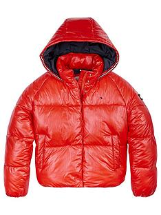 tommy-hilfiger-girls-metallic-paddednbsphooded-jacket-red