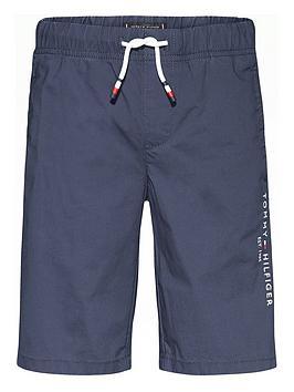 Tommy Hilfiger Tommy Hilfiger Boys Stretch Poplin Shorts - Navy Picture
