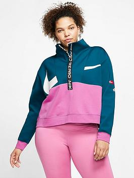 Nike Nike Training Get Fit Just Do It Zip Top (Curve) - Blue/Pink Picture