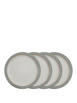 Denby Denby Elements Light Grey Speckle Dinner Plates &Ndash; Set Of 4 Picture