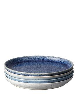 Denby Denby Studio Blue 4-Piece Coupe Medium Plate Set Picture