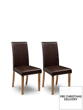 julian-bowen-pair-of-hudson-fuax-leathernbspdining-chairs-brown