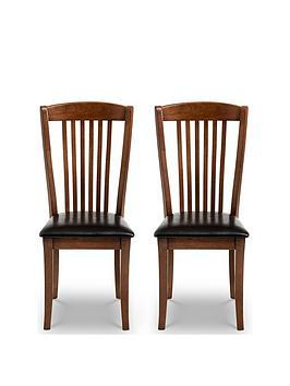 Julian Bowen Julian Bowen Pair Of Canterbury Dining Chairs Picture