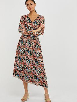 Monsoon Monsoon Flore Floral Mesh Asymmerical Dress - Multi Picture