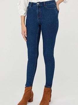 Monsoon Monsoon Iris Skinny Cotton Short Length Jeans - Blue Picture