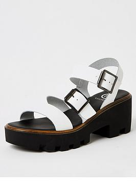 River Island River Island Leather Chunky Sole Sandal - White Picture
