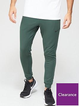 nike-training-dry-tapered-fleece-pants-green