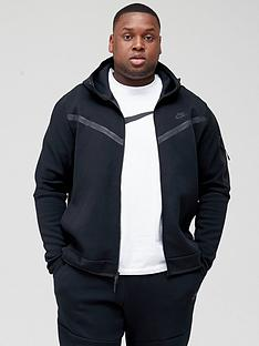 nike-sportswear-plus-size-tech-fleece-full-zip-hoodie-black