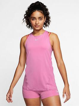 Nike Nike Training Pro Mesh Vest Top - Flamingo Picture