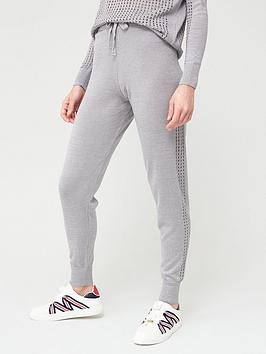 River Island River Island Metallic Mesh Co-Ord Knitted Jogger-Silver Picture