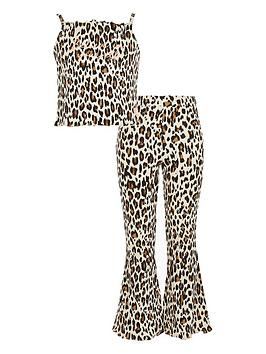 river-island-girls-animal-print-flare-pyjamas-brown
