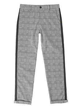 River Island River Island Boys Check Smart Trousers-Grey Picture