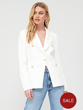 river-island-military-button-blazer-white