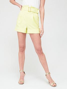 River Island River Island Corset Belted Short - Yellow Picture