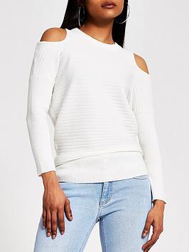 RI Petite Ri Petite Cut Out Shoulder Top - Cream Picture