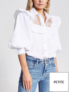 ri-petite-hybrid-puff-sleeve-blouse-white
