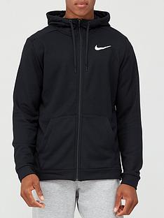 nike-training-dry-full-zip-fleece-hoodie-black