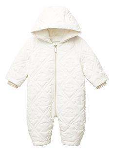 river-island-baby-ri-embosssed-quilted-snowsuit-cream