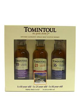 Very Tomintoul Collection Of Whiskies 3X5Cl Miniature Taster Gift Pack Picture