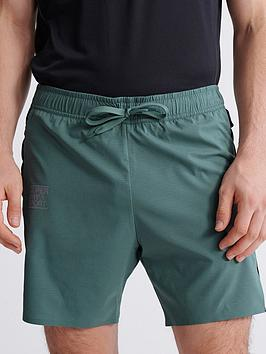 superdry-training-double-layer-shorts-green