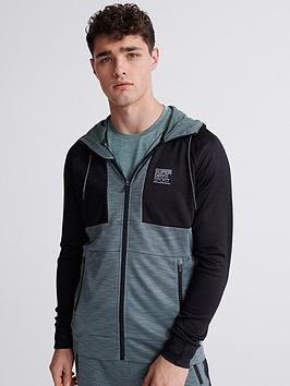 Superdry Superdry Training Colour Block Jacket - Green Picture