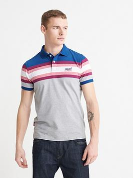 Superdry Superdry Malibu Stripe Polo Top - Grey Picture