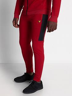 lyle-scott-fitness-colour-breaker-tech-fleece-pants-ruby