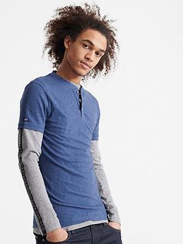 Superdry Superdry Heritage Short Sleeve Grandad T-Shirt - Navy Picture