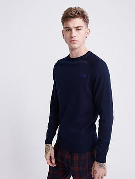 superdry-orange-label-cotton-crew-jumper-navy