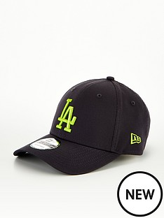 new-era-9forty-lanbspdodgers-cap-blackneon