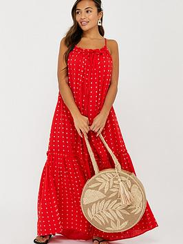 Accessorize   Cotton Maxi Dress - Red