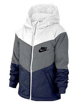 nike-older-childrensnbspfilled-jacket-whitegrey