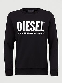 Diesel Diesel Gir Division Large Logo Sweatshirt - Black Picture