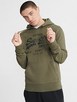 Superdry Superdry Vintage Logo Shirt Shop Bonded Hoodie - Chive Picture