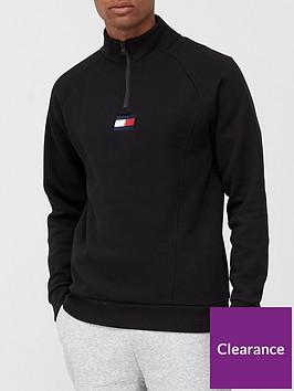 tommy-sport-12-zip-fleece-mid-layer-black