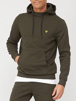 lyle-scott-fitness-tech-fleece-hoodie-khaki