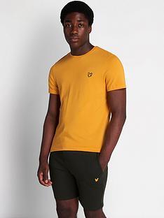 lyle-scott-fitness-martin-short-sleeve-t-shirt-yellow