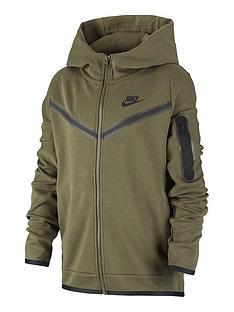 nike-older-boys-tech-fleece-full-zip-hoodie-khaki