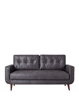 Very Skandi Faux Leather 3 Seater Sofa Picture