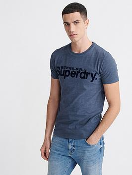 Superdry Superdry Core Faux Suede T-Shirt - Blue Picture