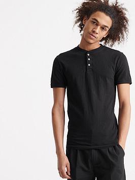 superdry-heritage-short-sleeved-grandad-top-black