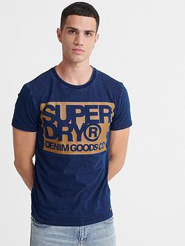 Superdry Superdry Denim Goods Co Print T-Shirt - Indigo Picture