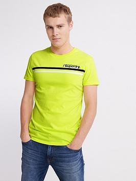 Superdry Superdry Core Logo Sport Stripe T-Shirt - Yellow Picture