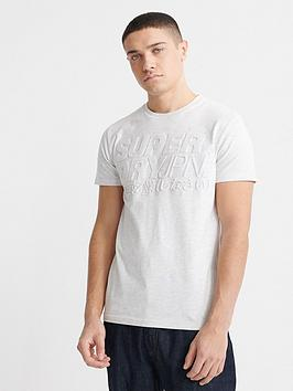 Superdry Superdry Emboss Pastel Line T-Shirt - White Picture