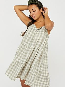 Accessorize Accessorize Gingham Strappy Dress - Green Picture