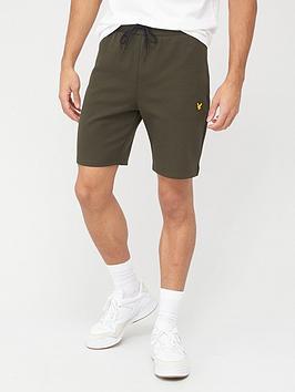 lyle-scott-fitness-tech-fleece-shorts-khaki